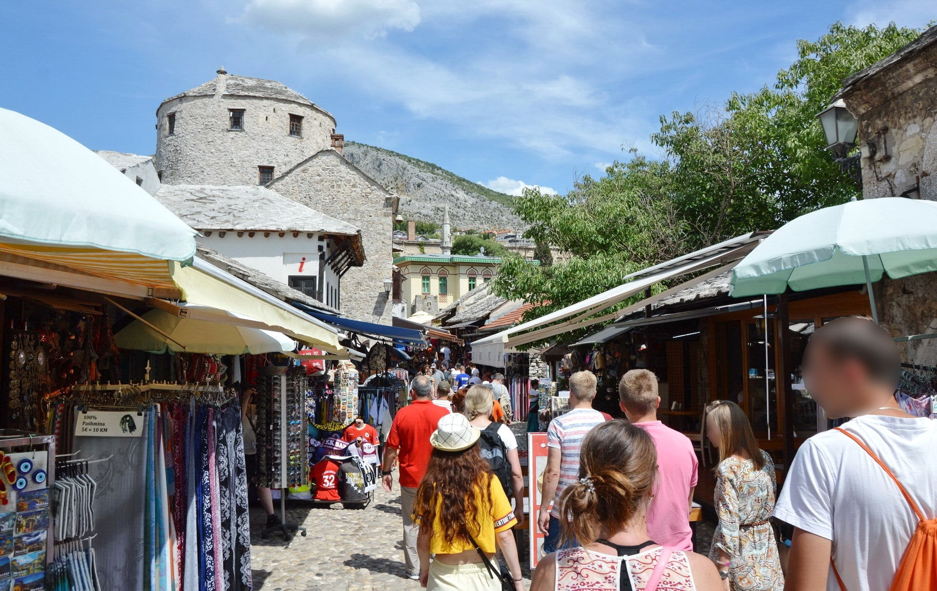 The Old Town of Mostar is filled with local vendors selling their goods