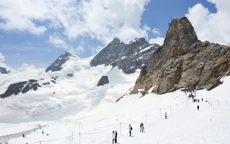 Icy Air On The Top Of Europe At Jungfraujoch