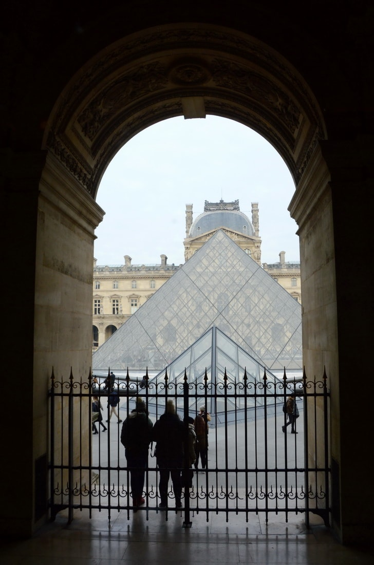 The famous Louvre Pyramid