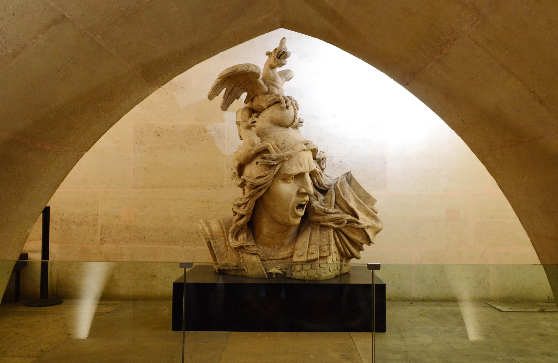 Statue inside The Arch