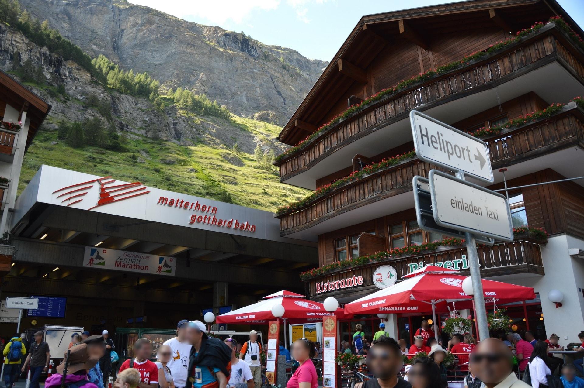 Zermatt's train station