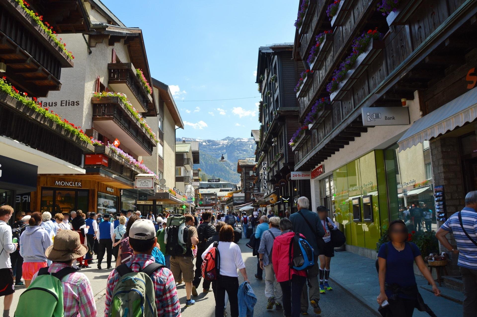 Bahnhofstrasse is Zermatt's main street